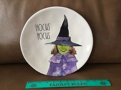 """RAE DUNN Halloween Collection Hocus Pocus Witch 11"""" Ceramic Plate ~ Decor ~ New"""