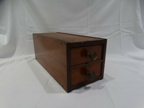 Antique Vintage Wood Treadle Sewing Machine Cabinet Drawers