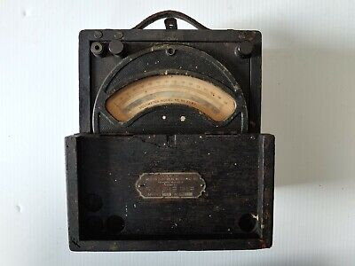 Antique Weston Electrical Instrument Model 45 7081 Oak Cased Voltmeter Original
