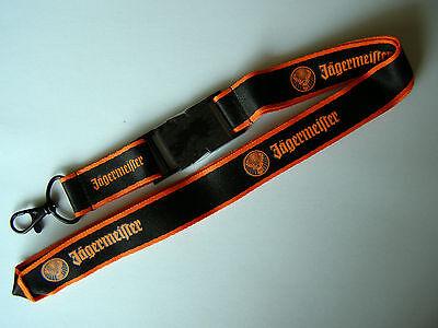 """10 x hochwertige Jägermeister""""Rudi"""" Schlüsselbänder/Lanyards mit Metallverschluß"""