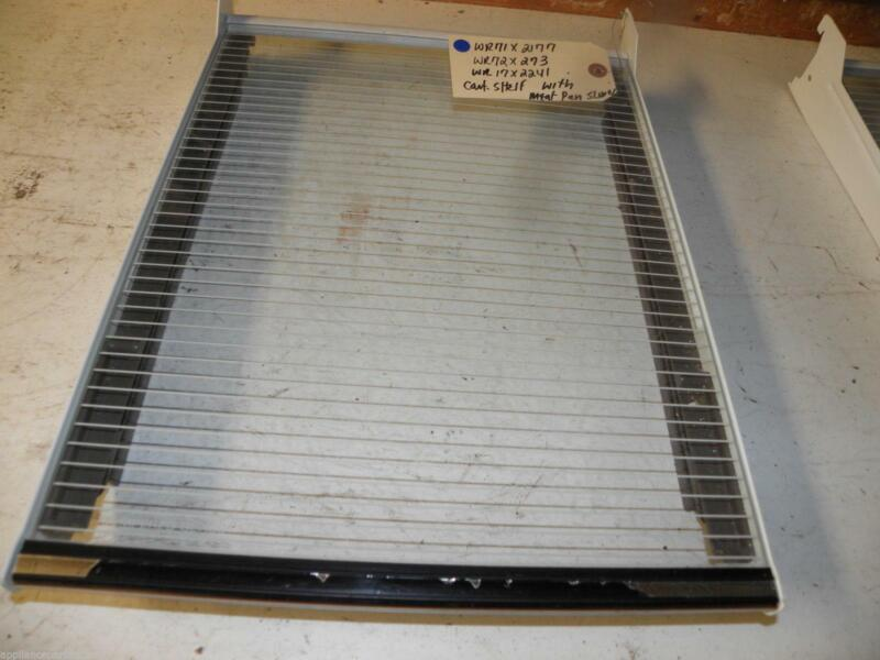 Ge Refrigerator Wr71x2177 Wr72x273 Wr17x2241 Cant Shelf W/ Meat Tray Slide Used