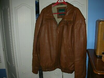 Andrew Marc New York Leather Jacket 2XLT Brown 2XL Tall