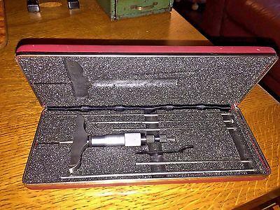 Starrett 445az-6rl Depth Micrometer 0-6 Range 3 Base