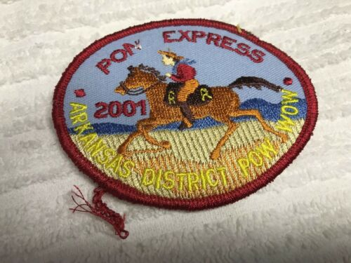 "BSA 2001 ARKANSAS DISTRICT POW WOW PONY EXPRESS FLAWED ""PON"" EXTREMLY RARE"