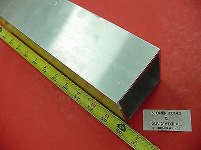 3x 3x 18 Wall X 60 Long Aluminum Square Tube 6063 T52 3 Sq X .125