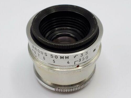 Vintage Argus Coated Cintar 50mm F3.5 Lens for C3 Matchmatic Brick Camera