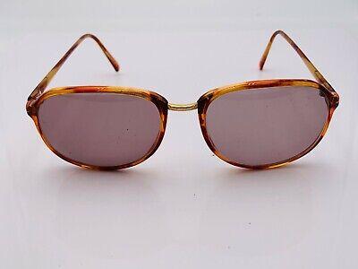 Vintage Pierre Cardin 05-237-2 Brown Gold Oval Sunglasses Japan FRAMES ONLY