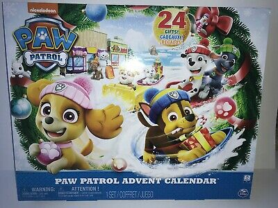 Spin Master PAW PATROL Holiday Advent Calendar 24 Collectible Plastic Figures