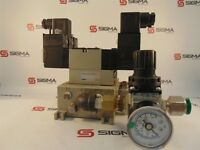 SMC VVFS2000-20A-2 w/VFS2210-5DZ Solenoid Valves, AR20-N02H-Z Pneumatic Valve