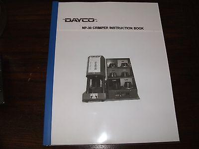 Dayco Np 30 Hydraulic Hose Crimper Machine Operators Instruction Manual