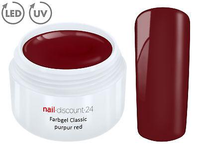 Color UV Gel LED FARBGEL PURPUR RED French Modellage Nail Art Design Nagel Rot