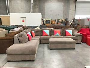 SAME DAY DELIVERY Comfortable SOFA BED L shape & OTTOMAN