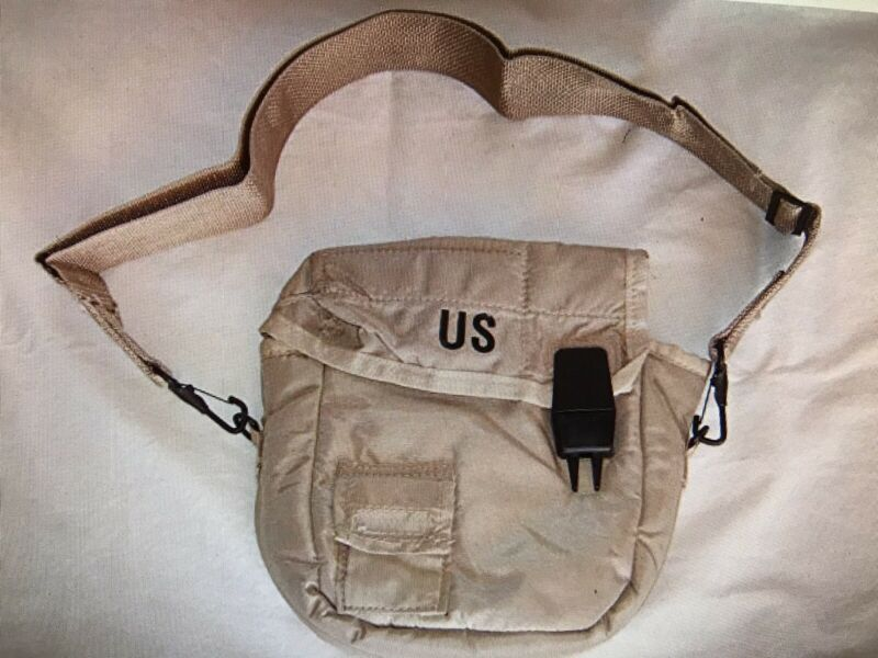 US Military 2 Quart Desert Canteen Cover and Shoulder Strap New