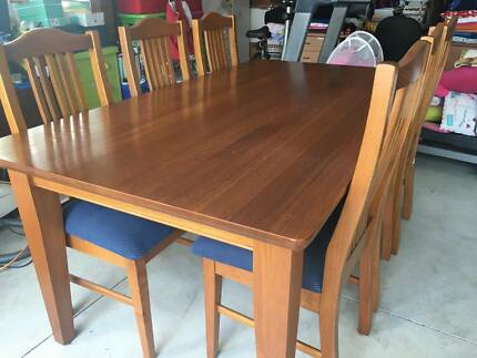 Dinning Table And 6 Chairs Victorian Ash