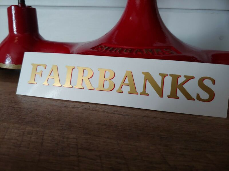 Fairbanks Scales Restoration Decals / Lettering Decal & Globe Decal (Small)
