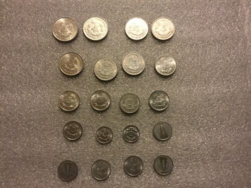 Lot of 20:East Germany DDR 1948-1982  1,5,10 Pfennig 1,2  Mark Collectible Coins