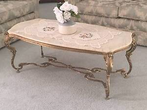 Brass Coffee Table with Marble Top - pick up from Windsor Downs Windsor Downs Hawkesbury Area Preview