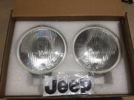 Jeep Wrangler JK Factory Original Hella H4 Head Lights Benowa Gold Coast City Preview