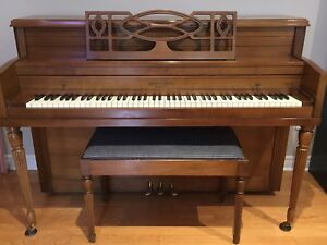 Mason & Risch Piano with bench (checked over by piano tuner)