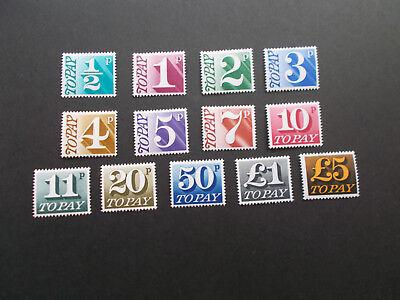 GB QEII 1970 Postage Dues Complete Set of 13 Values D77-D89 Superb U/M Cat £40
