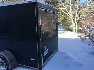 7x16 Single Axel V nose Enclosed Cargo Trailer for sale