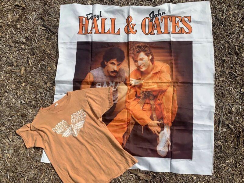 Daryl Hall & John Oates Rare Vtg 80s Promo Banner 70s Shirt Original Collectable