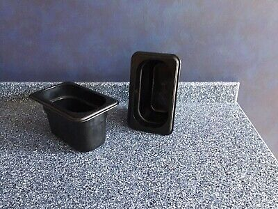 Container--black Cambro Food Storage 18 Serving Containers Set Of 10 Used