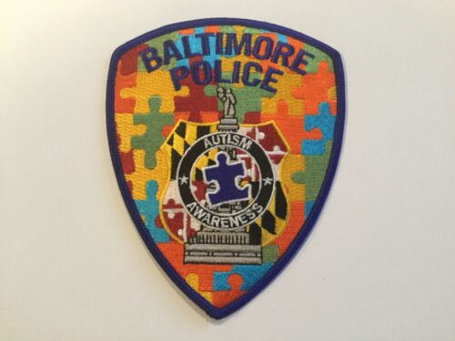 Baltimore City Police Autism Patch Maryland