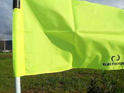 4 BANDIERINE per CALCIO D'ANGOLO SPORTIKA cm. 39 X 60 - Bandiera gialla