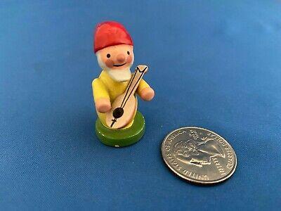 ERZGEBIRGE Gnome Miniature Musical Figurine Christian Ulbricht, Germany