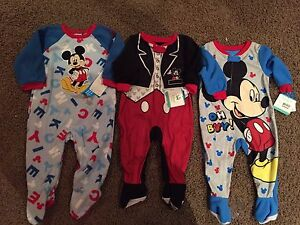 Mickey Mouse sleepers, 12 months