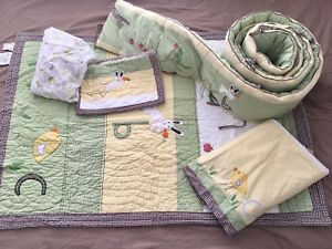 Pottery Barn crib ABC bedding set