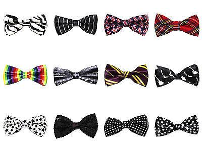 Novelty Fun Satin Bow Ties - Variety of Designs - Fun Bow Ties