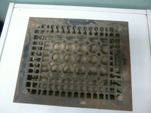Vintage Floor Vent Register with Louvers
