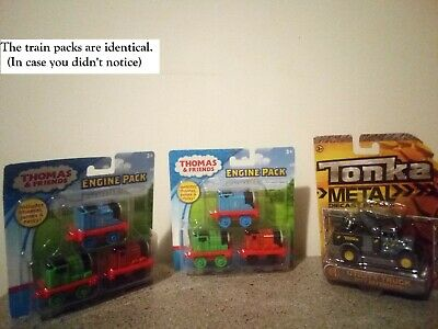 "(RF30) ""THOMAS & FRIENDS"" AND ""TONKA"" TOYS LOT OF 3 / TWO IDENTICAL / ALL NIP"