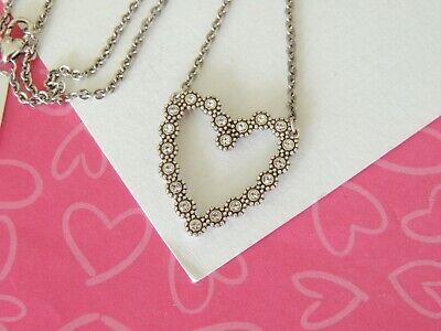 Brighton Twinkle Floating Heart Reversible Crystal Necklace MSRP (Crystal Floating Heart Necklace)