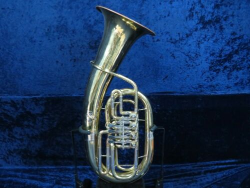 Parrot Tianjin 4 Valve Rotary Euphonium Ser#isi5403 Good Playing Import Horn
