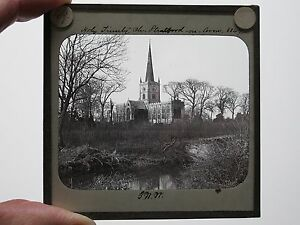 c-1890-HOLY-TRINITY-STRATFORD-UPON-AVON-MAGIC-LANTERN-SLIDE-PHOTO-G-W-WILSON