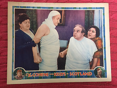 The Cohens And Kellys In Scotland 1930 Universal comedylobbycard Charlie Murray