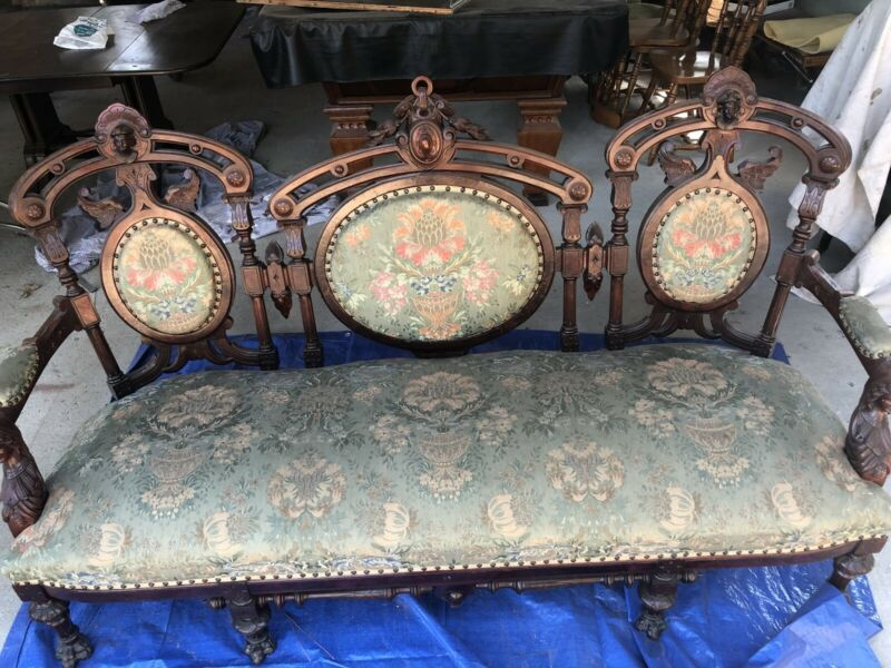 Victorian Era Antique Parlor Set.