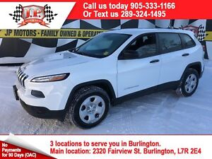 2017 Jeep Cherokee Sport, Auto, Heated Seats, Back Up Camera, 4x