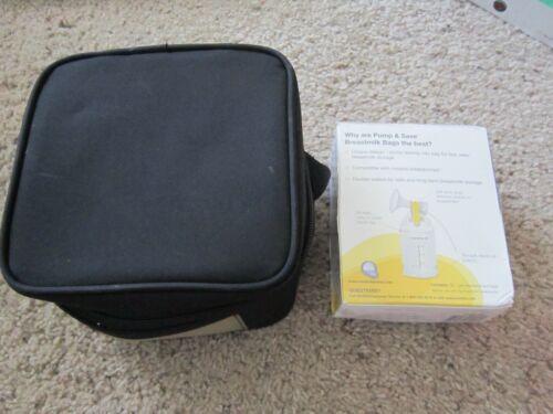 MEDELA Pump & And Save For Long -Term Storage Breastmilk Bags + Black Cooler