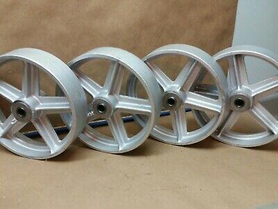 Hit Miss Engine Cart Wheels Antique Style 8x2 Industrial Type Flywheel Engine