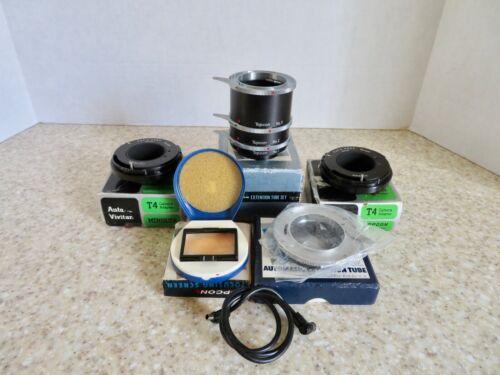 Lot of 5 Vintage TOPCON Lenses