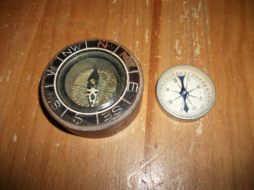 Lot of (2) Old Vintage Compass