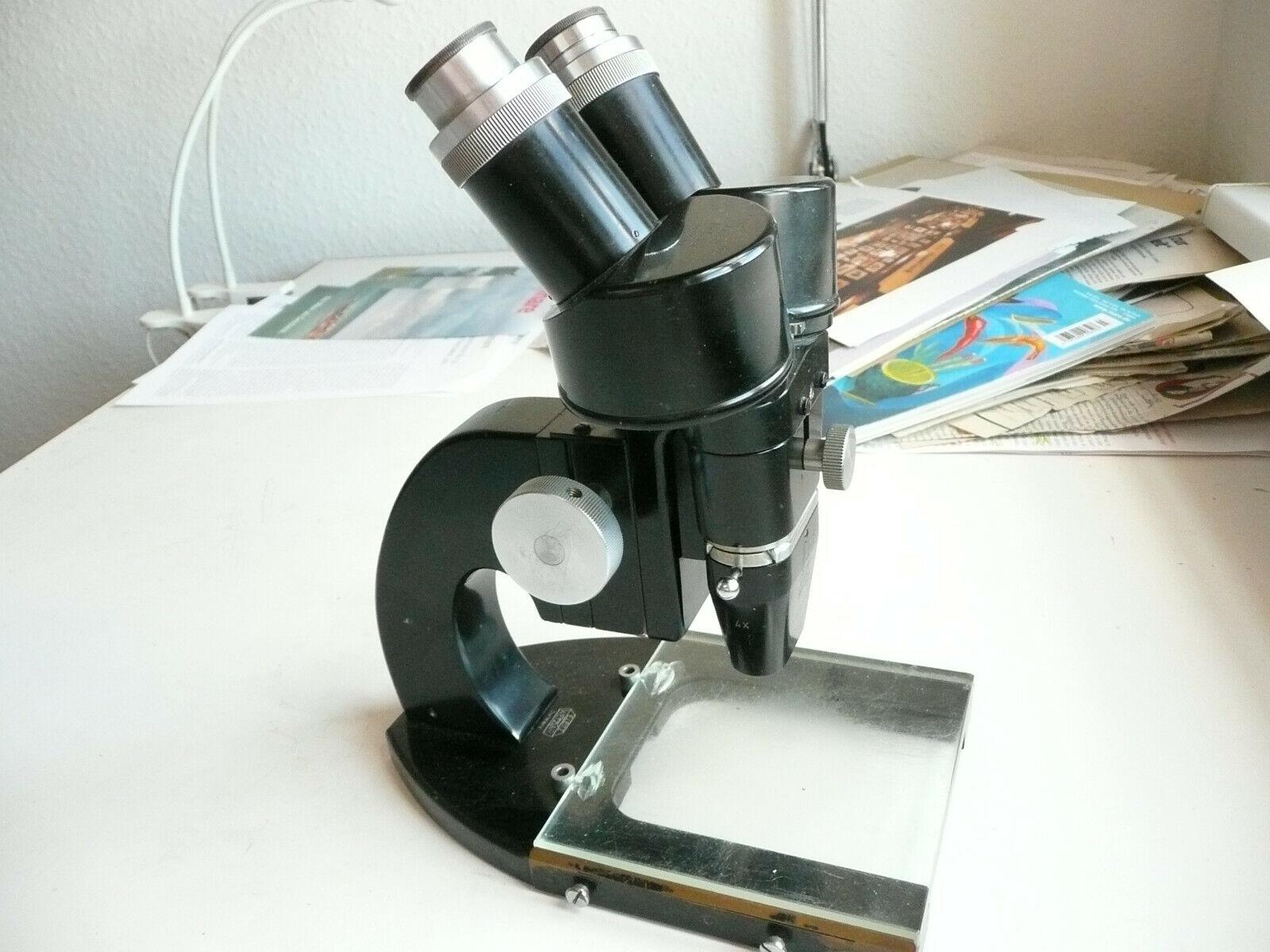 Mikroskop Ernst Leitz Wetzlar Stereo 72x mitfür WechselOptik