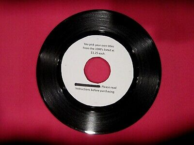 9ab0f90d0b1 Original Rock Soul Pop 45 rpm s from 50s to 80s - 1.25 each -