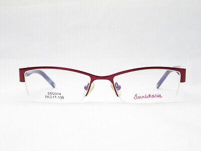 Sainte Mario Half-Brand Frames Women's Glasses Red Progressive Lenses (New Frames For Glasses 2014)