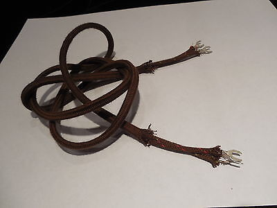 "Antique Telephone Replacement Receiver Cloth Cord Only  36"" 36  inch 2 Conductor"