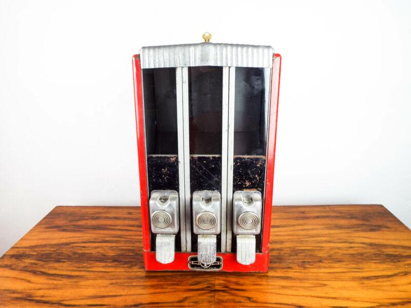 Machine Age 1940s Holli Ware Candy Machine Sugar Bowl Gumball Vending Dispenser